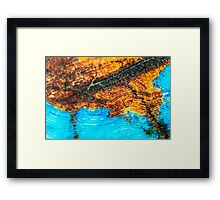 Blue and Brown Agate Pattern Framed Print