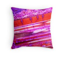 Red Purple Dragon Vein Agate Pattern Throw Pillow