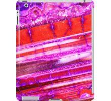 Red Purple Dragon Vein Agate Pattern iPad Case/Skin