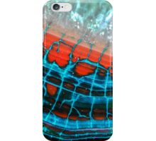 Blue Red Dragon Vein Agate Pattern iPhone Case/Skin