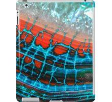 Blue Red Dragon Vein Agate Pattern iPad Case/Skin