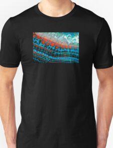 Blue Red Dragon Vein Agate Pattern Unisex T-Shirt