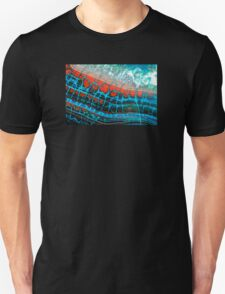 Blue Red Dragon Vein Agate Pattern T-Shirt