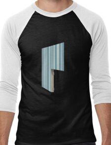 Glitch Homes Wallpaper blue stripes right divide Men's Baseball ¾ T-Shirt