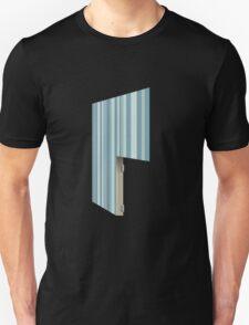 Glitch Homes Wallpaper blue stripes right divide Unisex T-Shirt