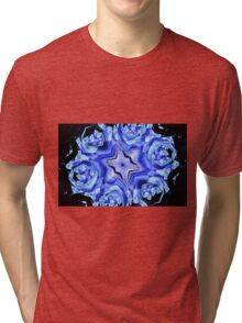 Blue Snow Flake Tri-blend T-Shirt