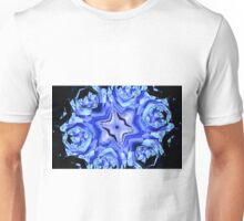Blue Snow Flake Unisex T-Shirt