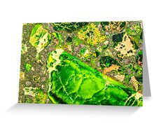 Green Sea Sediment Agate Pattern Greeting Card