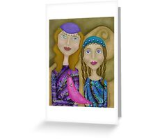 Holding the Moon Greeting Card