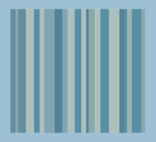Glitch Homes Wallpaper blue stripes swatch Baby Tee