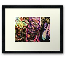 Abstract Graffiti Sea Sediment Agate Pattern Framed Print