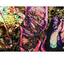 Abstract Graffiti Sea Sediment Agate Pattern Photographic Print