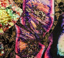 Abstract Graffiti Sea Sediment Agate Pattern by MMPhotographyUK