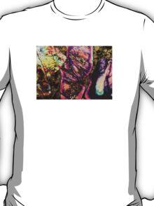 Abstract Graffiti Sea Sediment Agate Pattern T-Shirt