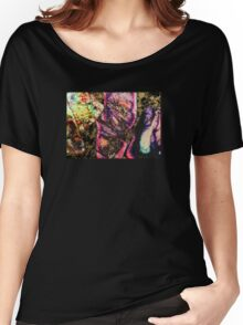 Abstract Graffiti Sea Sediment Agate Pattern Women's Relaxed Fit T-Shirt