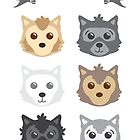 Game of Thrones Tot - Direwolves by etcreates
