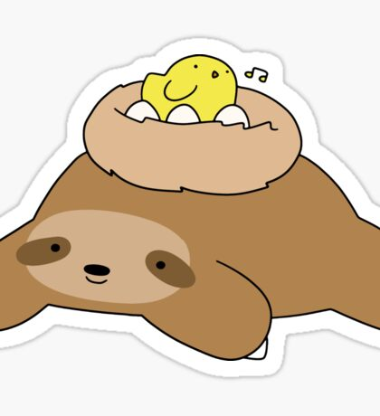 Bird Nest Sloth Sticker