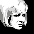 Dusty Springfield - Pop Icon Black and White portrait by gregs-celeb-art