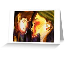Two Heads, One Heart Greeting Card