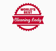 World's best cleaning lady Womens Fitted T-Shirt