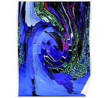 Hurricane Multi-Color Swirl Abstract Design Pattern Poster