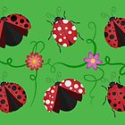 Ladybirds pattern by psychoshadow