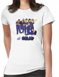 PMI Squad - Blue Lettering Womens Fitted T-Shirt