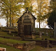 Cemetery At Night by Amber Nichols
