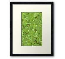 Forest Pattern_Green Framed Print