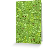 Forest Pattern_Green Greeting Card
