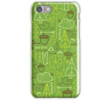 Forest Pattern_Green iPhone Case/Skin