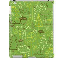 Forest Pattern_Green iPad Case/Skin