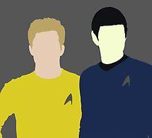 Spock and Kirk by Kelsie Heckman