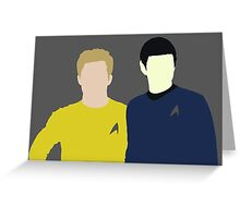 Spock and Kirk Greeting Card