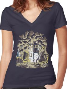 Wasteland Time Women's Fitted V-Neck T-Shirt