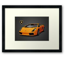 Orange Lamborghini Framed Print