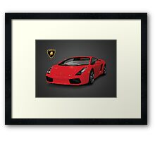Red Lamborghini Framed Print
