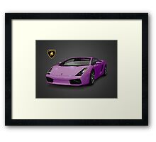Purple Lamborghini Framed Print
