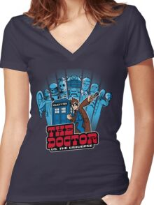 Doctor Pilgrim 10th Edition Women's Fitted V-Neck T-Shirt