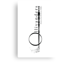 Ollivanders Logo in White Canvas Print