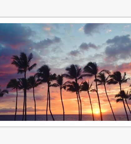 Sunset in Maui Sticker Sticker