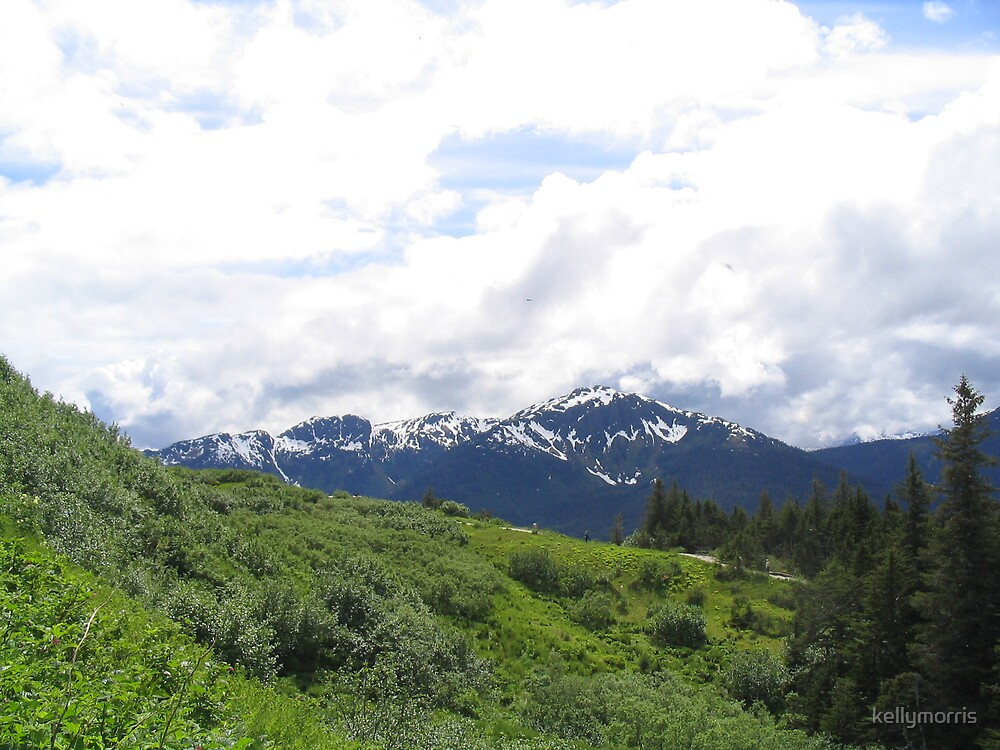 Juneau Snow-Capped Mountains by kellymorris