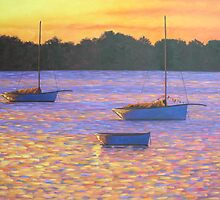 Couta boats at Sunset by avocado