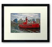 Carpentaria - Light Ship CLS4 in Retirement Framed Print