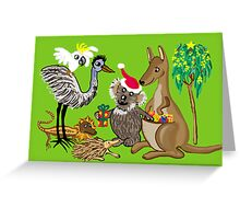 Santa Claws - Aussie Christmas Card Greeting Card