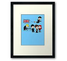 Brit Peanuts Framed Print