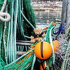 Cornish Ted at Lyme Harbour,,, Dorset UK by lynn carter