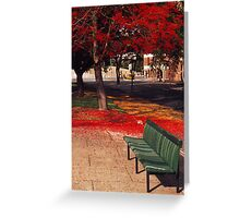 Bench and Backdrop Greeting Card