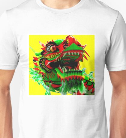 CHINESE CEREMONIAL; Vintage Dragon Print Unisex T-Shirt