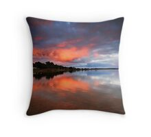 Lake Albert Sunrise Throw Pillow